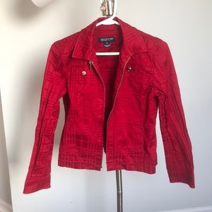 Red Pattern jacket